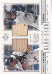 Upper Deck Pros and Prospects Game-Used Dual Bat