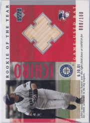 Upper Deck R.O.Y. Game Used Bat #B-13 /100