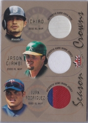 Fleer Triple Crown Season Crowns Triple Materials /100