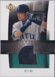Upper Deck Honor Roll Batting Glove Gold /46