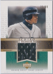 Upper Deck Honor Roll Game Jersey Gold J-I3 /99