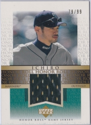 Upper Deck Honor Roll Game Jersey Gold  J-I2 /99
