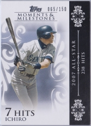 Topps Moments & Milestones White 63 Hits 7 /150