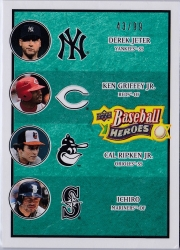 Upper Deck Baseball Heroes Sea Green Multiplayer /99