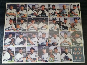 2001 Keebler Full Uncut Team Sheet Promotional Giveaway