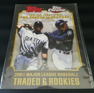 2001 Topps Traded and Rookies Sales Sheet