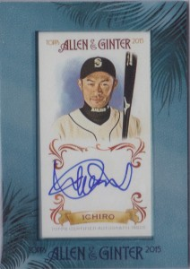 Allen & Ginter Framed Mini Auto Mariners