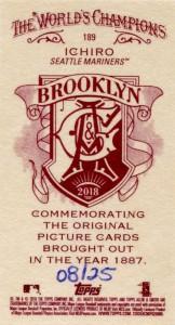 Allen & Ginter Mini Brooklyn Back /25