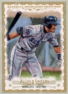 Allen Ginter Baseball Highlight Sketches