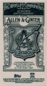 Allen & Ginter Mini AG Back
