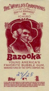 Allen and Ginter Mini Bazooka Back /25