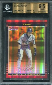 BGS 2002 Bowman Chrome Gold Refractor /50