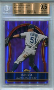 BGS 2011 Topps Finest Purple Refractor /5