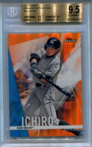 BGS 2017 Topps Finest Orange Refractor /25