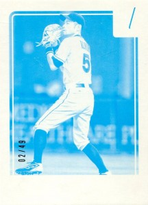 Donruss Cyan Test Proof /49