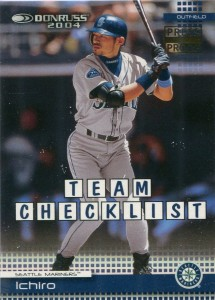 Donruss Team Checklist Gold Press Proof /25