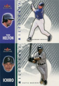 Fleer Tradition Milestones Proof with Todd Helton