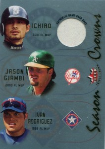 Fleer Triple Crown Season Crowns Materials Ichiro
