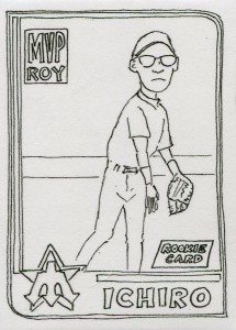 I Draw Baseball Cards 2001 Topps RC Artist Reprint