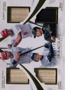 Immaculate Collection Quad Relic with Pujols /25