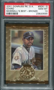 PSA 2001 Donruss DK Baseballs Best Bronze /999
