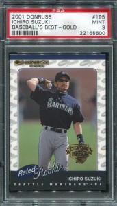 PSA 2001 Donruss RR Baseballs Best Gold /99