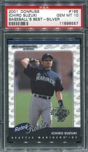 PSA 2001 Donruss RR Baseballs Best Silver /499