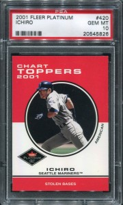 PSA 2001 Fleer Platinum Chart Toppers #420