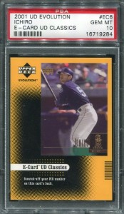 PSA 2001 Upper Deck Evolution E-Card Classics Unscratched