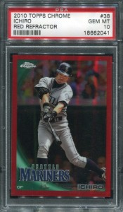 PSA 2010 Topps Chrome Red Refractor /25