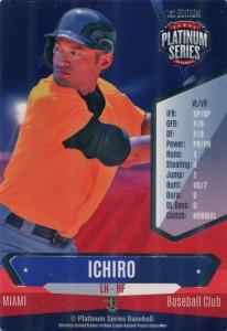 Platinum Series Baseball 1st Edition Game Card