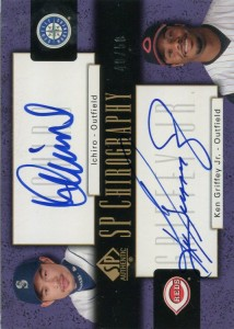 SP Authentic Dual SP Chirography Autograph with Griffey Jr. /50