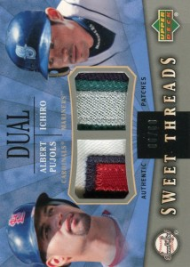Sweet Spot Sweet Threads Dual Patches with Pujols /60