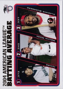 Topps 1st Edition AL Batting Avg Leaders