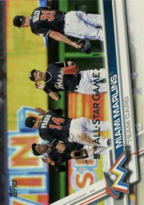 Topps All Star Game Miami Marlins Team Card