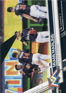 Topps Black Miami Marlins Team Card /66