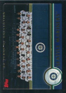 Topps Black Seattle Mariners Team Card /52