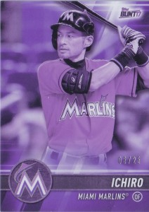 Topps Bunt Physical Purple /25