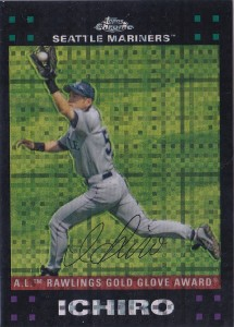 Topps Chrome X-Fractor AW Gold Glove