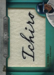 Topps Commemerative Historical Stiches Patch Card
