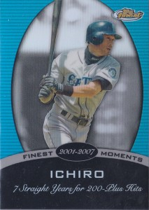 Topps Finest Finest Moments #15S Blue Refractor /299