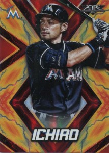 Topps Fire Red Flame