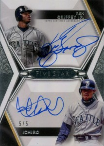 Topps Five Star Dual Auto with Griffey /5
