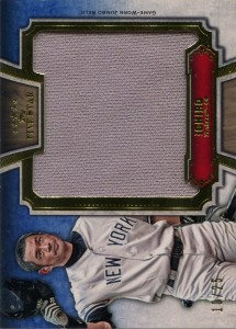 Topps Five Star Jumbo Jersey Relic Gold /25