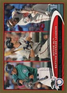 Topps Gold AL Batting Average Leaders /2012