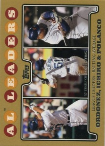 Topps Gold AL Batting Average Leaders /2008