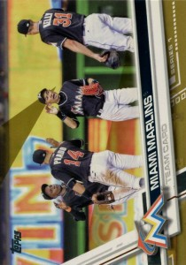 Topps Gold Miami Marlins Team Card /2017