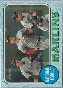 Topps Heritage Blue Border Marlins Team Card /50