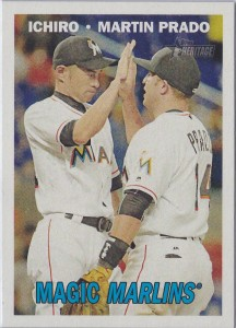 Topps Heritage Combo Cards Magic Marlins