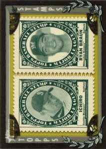 Topps Heritage Framed Dual Stamp with Ryan Braun /50